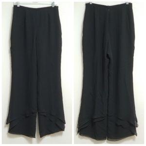 Kay Unger Black Silk High Waist Dress Pant Size 10